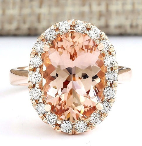 18k Gold plated Champagne CZ Wedding Engagement Ring