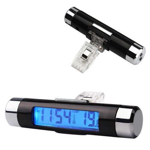 2 In 1 Digital Led Car Clock Thermometer Temperature Tophatter