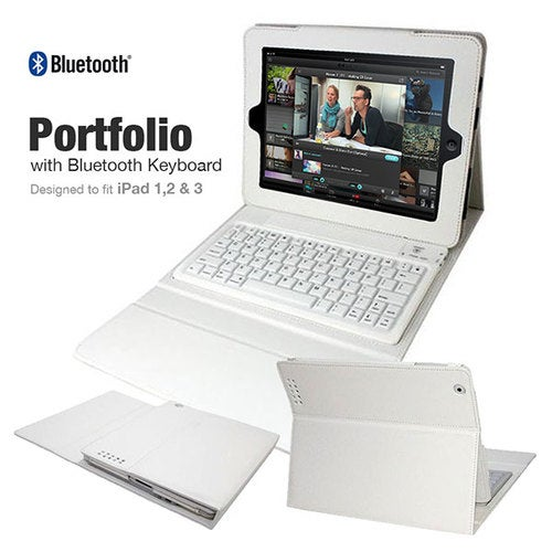 Portfolio with Bluetooth Keyboard for iPad 1st, 2nd       Tophatter