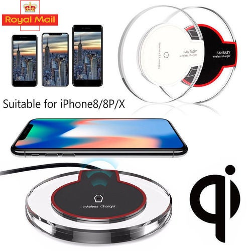 Fast Qi Wireless Charging Charger Dock Pad For Samsung Galaxy Apple iPhone
