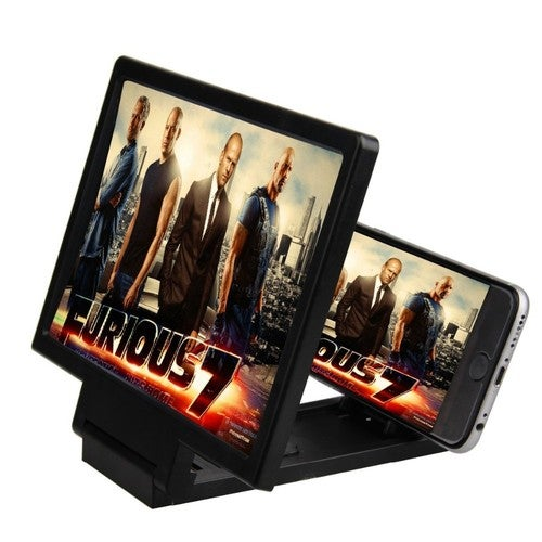 F1 3D Screen Magnifier Mobile Phone Video Enlarge Stand Expander Holder Foldable Eye Treasure Case