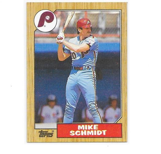 MIKE SCHMIDT - (HOF 1995) - 1980 RECORD BREAKER  (48 HOME RUNS)  - RARE & HARD TO FIND -  1987 TOPPS (CARD # 430) - VERY UNIQUE ORIGINAL (30 YEARS OLD) - SEE SCAN OF BACK OF CARDS FOR HISTORY & STATS - MADE & SHIPPED FROM THE USA - NO CHINA REPRINT HERE