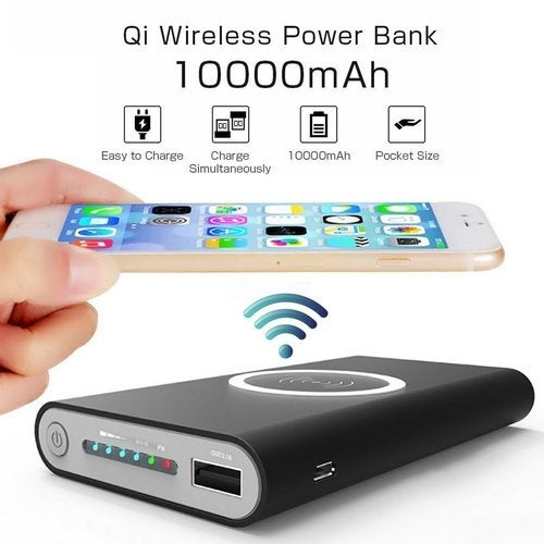 QI Power Bank DIY Fast Wirelees Charger For iPhone Samsung iOS Android 10000mAh
