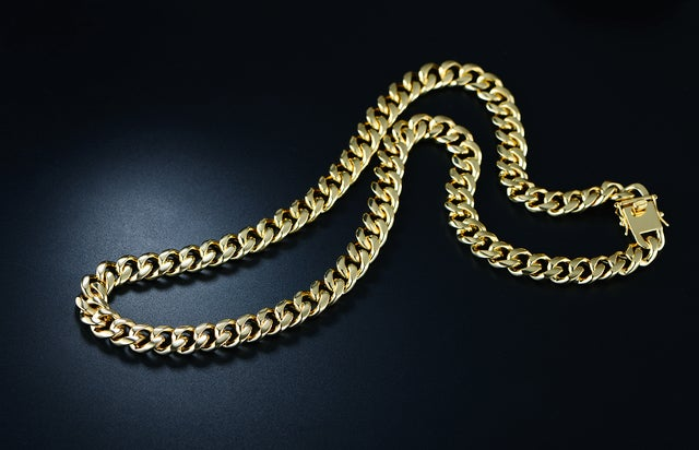 Gold Plated 24in.Curb Link Chain Necklace
