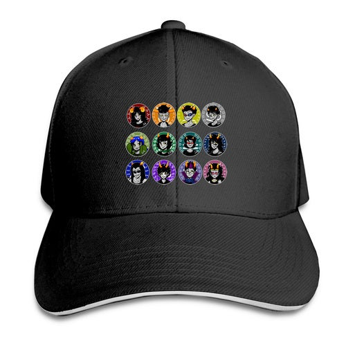homestuck beta Unisex Adult Snapback Print Baseball Caps Flat Adjustable Hat