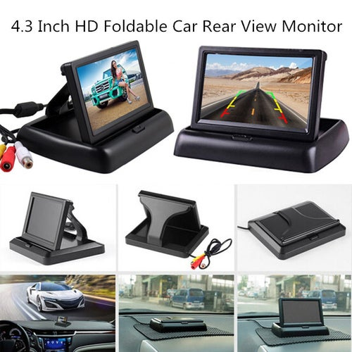 High Quality 4.3 inch HD Foldable Car Rear View Monitor Reversing Color LCD TFT Display Screen for Truck Vehicle Backup Rearview Camera