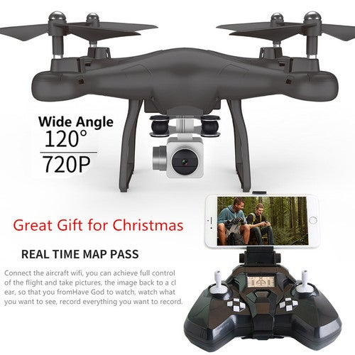 Great Gift for Christmas Wifi fpv Remote Control RC Drone S10 with 720P Wide Camera Headless Mode One-key Return Remote Control RC