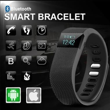 TW64 Bluetooth Smart Bracelet Wrist Watch Fitness Tracker for Android iOS iPhone
