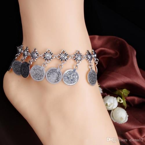 Gypsy Anklet with Coin Pendants