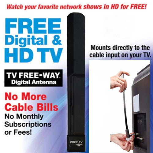 Durable Home Indoor Television TV Aerial Simple Installation Wired HD High Gain FREE-WAY Digital Indoor TV Antenna
