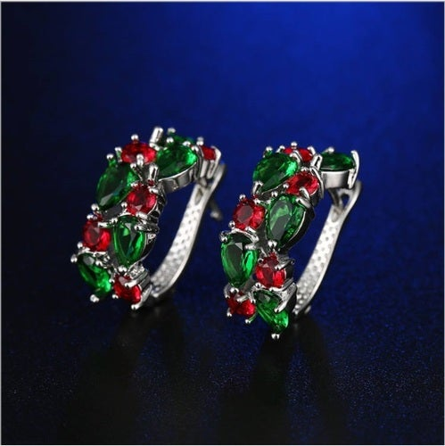 High quality statement earring for you or your loved ones. Genuine Italian 5 AAAAA zircon. Certified White gold plated. Very nice looking earrings at the great price.