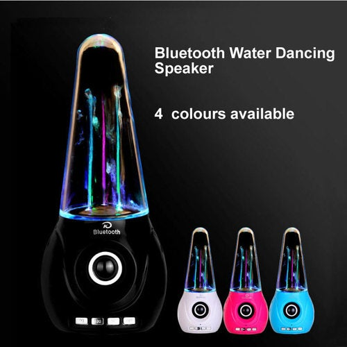 Wireless Bluetooth Water Dancing Speaker Portable Colorful LED Fountain FM TF card Subwoofer For Iphone Android phone Computer