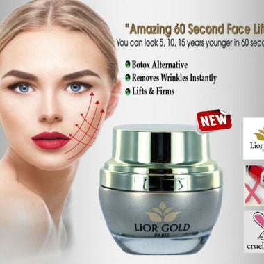 NEW! Lior Gold Paris 60 Second Botox Facelift Cream (UNBOXED)