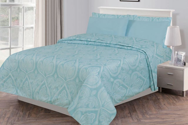 9064135403 6 Piece (4 Piece Twin): PAISLEY Printed Lux Decor Be... | Tophatter