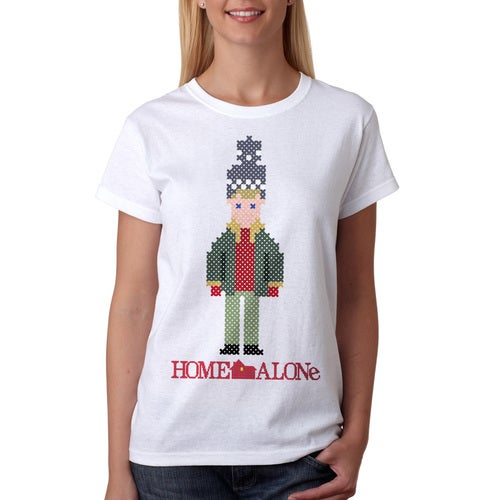 Home Alone Christmas Pixelated Kevin Women's White T-shirt