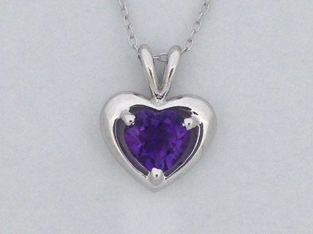 Natural Amethyst Pendant 925 Sterling Silver