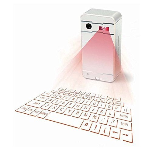 Virtual Laser Projection Keyboard Wireless Bluetooth for IOS Android Cell Phone Tablet PC(White)