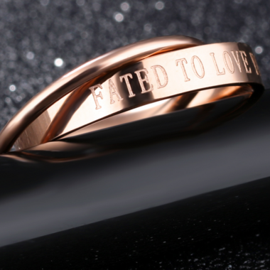 Classic Rose Gold Double Ring Girl Ring
