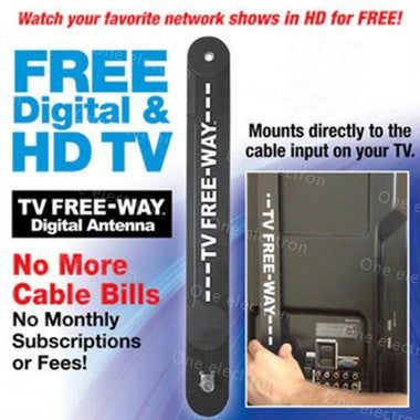 HD TV Key HDTV FREE TV Digital Indoor Antenna Ditch Cable As Seen on TV (Color: