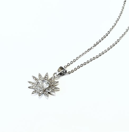 1.5ct 18K White Gold Over Beautiful AAA Crystal Pendant