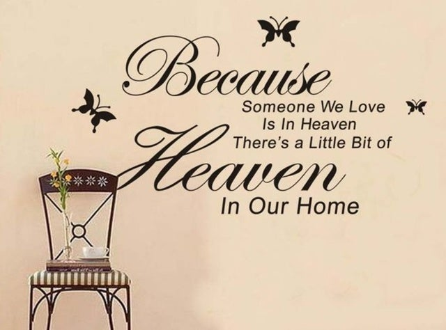 Because Someone We Love Is In Heaven Vinyl Wall Art Decals Quotes Sayings Words Home Decor