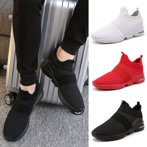 Men Breathable Mesh Running Sports Casual Sneakers Athletic Trainers Shoes Size