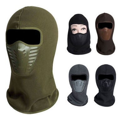 1PC Thermal Fleece Balaclava Hat Winter Warm Cap With Neck Scarf