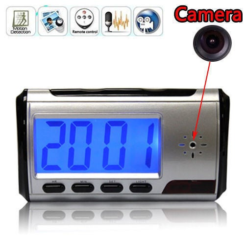Mini Camera Digital USB Alarm Clock Video DVR Hidden SPY Nanny Camera DV