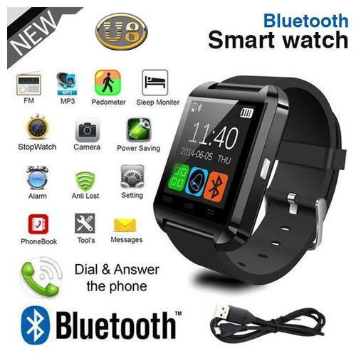 New Bluetooth Smart Watch Wrist Watch for Smartphone Android phone System Smart Watch