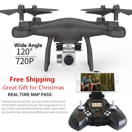 Free Shipping Great Gift for Christmas Wifi fpv Remote Control RC Drone S10 with 720P Wide Camera Headless Mode One-key Return Remote Control RC