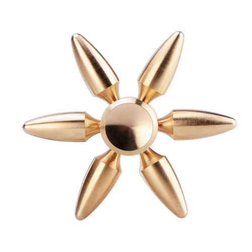 Brass EDC Hand Spinner Focus Toy Bullet Fidget Spinners For Autism ADHD Kids DIY