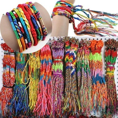 20Pcs Wholesale Jewelry Lot Braid Strands Friendship Cords Handmade Bracelets