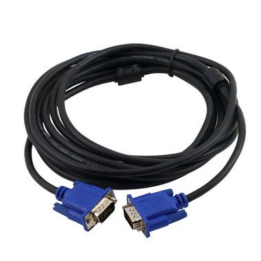 SVGA VGA HD15 Male To HD15 15-pin Male Extension Monitor Connector Cable 15 Feet