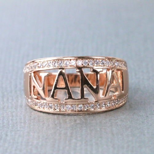 Nana Ring/Grandma Ring 18K Rose Gold Plated Christmas Gift   #862