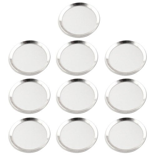 Metal Phone Home Button Sticker Ring Protector 10 PCS Silver Tone for iPhone