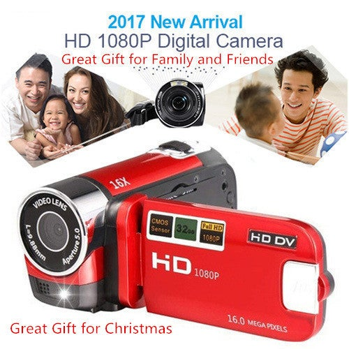 Great Gift for Christmas 2017 Newest 16MP DVR TFT 1080P Camcorder Digital Camera 16X Full HD Video 2.7'' DV LCD Zoom
