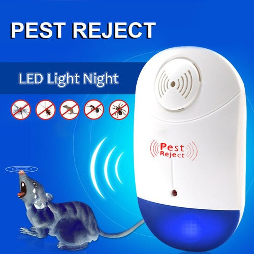 LED Light Mice Mosquito Reject Ultrasonic Anti Mosquito Insect Repeller Rat Mouse Cockroach Pest Reject