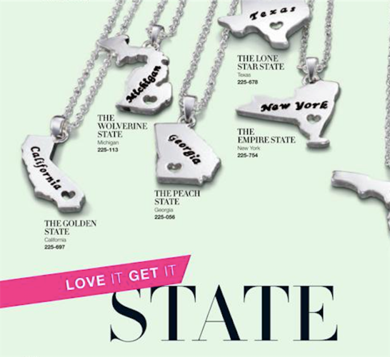 Home State Necklace California