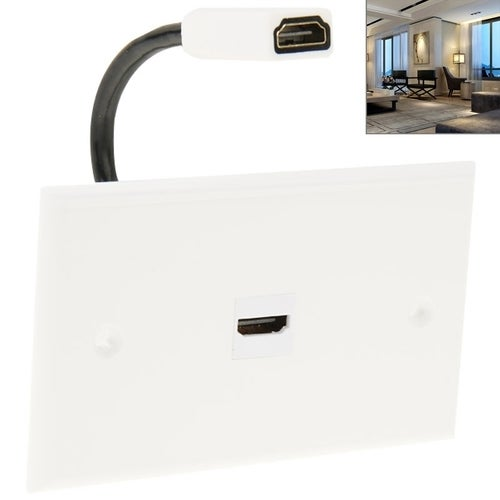 HDMI Female To HDMI Female Cable Wall Plate Panel, Cable Length: 18.5cm