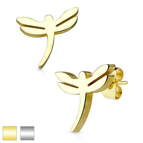 Dragonfly 316L Stainless Steel Earring Studs Pair