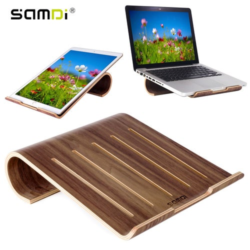 Vogue Wooden Laptop Cooling Pad Stand Wood Cooler Holder Bracket Dock Universal for MacBook Air Pro Retina IPad Pro Air