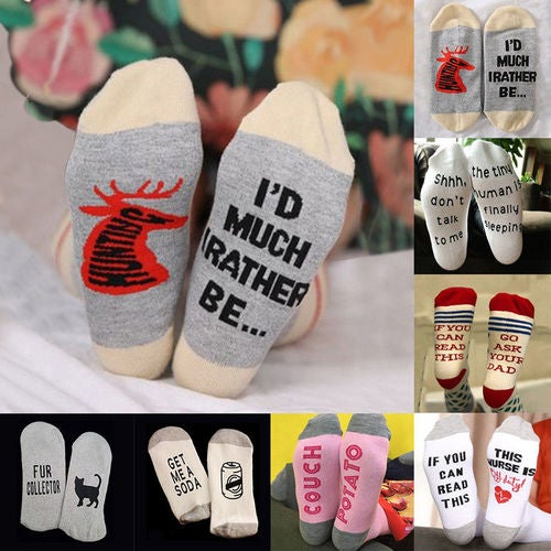 Unisex Womens Mens Winter Warm Funny Cotton Socks Home Indoor Fashion Ankle Sock