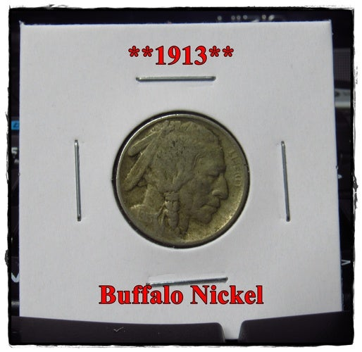"★★1913★★ 105 Years Old ★★ Buffalo Nickel  - Rare and Authentic - Full ""Blurry"" Date"