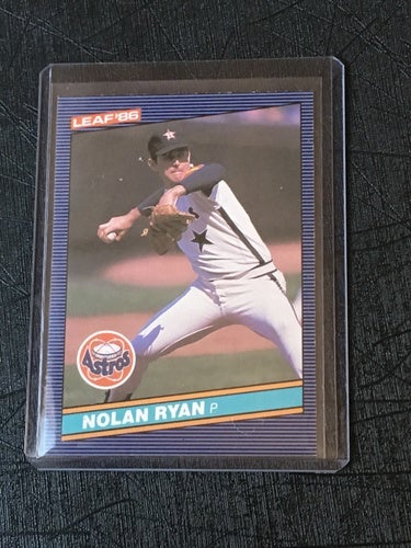 1986 Leaf Nolan Ryan Hof Baseball Card Houston Astros