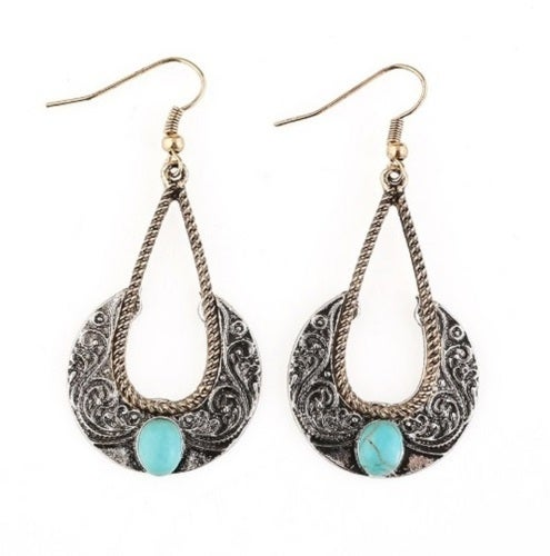 New Style Summer Collection!!! One of The Kind Drop lab turquoise earrings For Womem!!!
