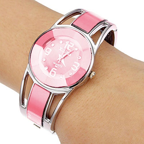 Stylish Pink Color Women Dress Watch