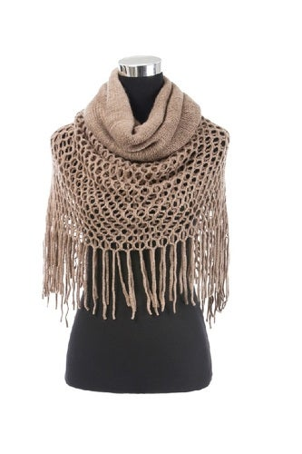 Ladies Winter Scarf with lace border, Multipurpose