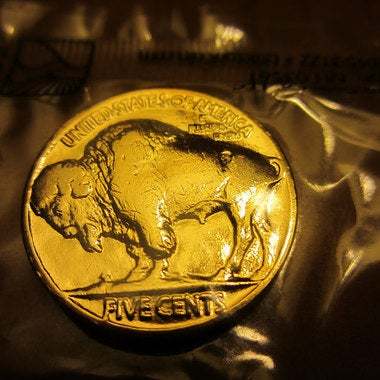 Authentic Buffalo Indian Head Nickel  Pure 24K GOLD PLATED Mint year 1913-1938