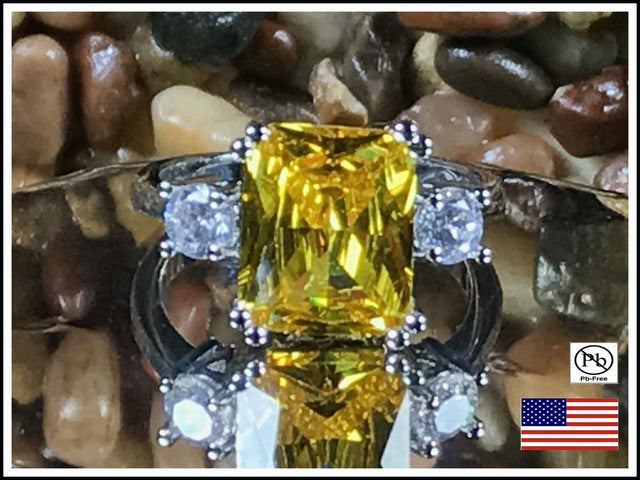 Limited Citrine on Silver Ring.