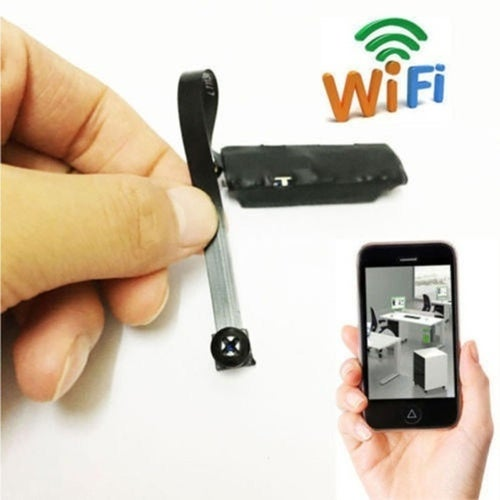 Home Safty Wireless Creative Mini Camera WIFI IP Pinhole DIY Digital Video Camera Mini Micro Dvr (Color: Black)